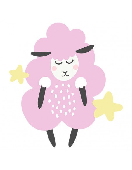 Chupete Personalizado a Color Oveja Rosa - Chupetes personalizados para bebés