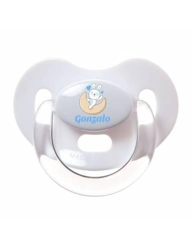 Chupete Personalizado a Color Conejo Azul - Chupetes personalizados para bebés