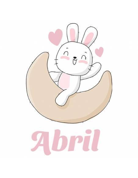 Chupete Personalizado a Color Conejo Rosa - Chupetes personalizados para bebés