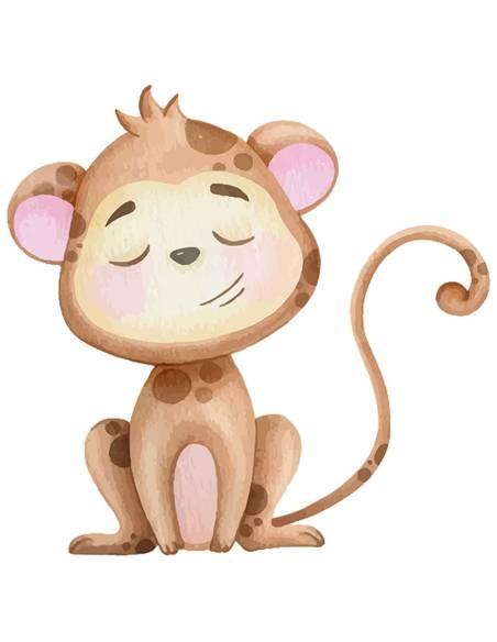 Chupete Personalizado a Color Mono - Chupetes personalizados para bebés