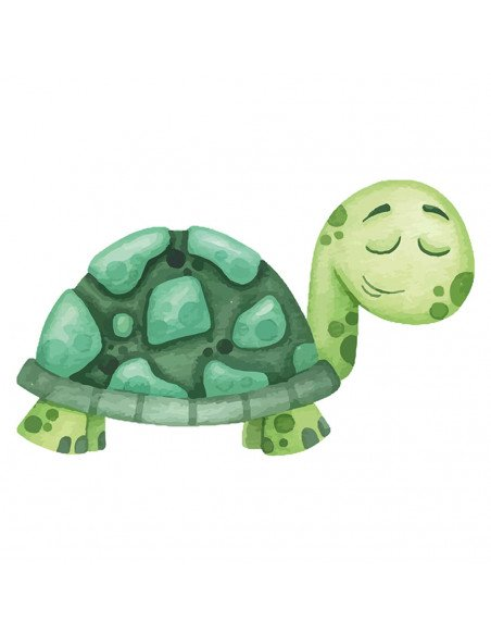 Chupete Personalizado a Color Tortuga - Chupetes personalizados para bebés