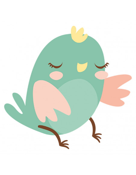 Chupete Personalizado a Color Pájaro Verde - Chupetes personalizados para bebés