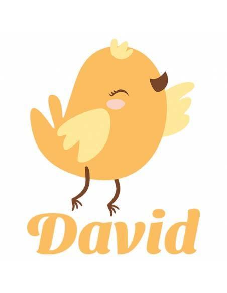 Chupete Personalizado a Color Pájaro Amarillo - Chupetes personalizados para bebés