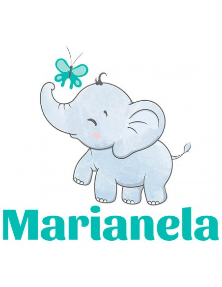 Chupete Personalizado a Color Elefante - Chupetes personalizados para bebés