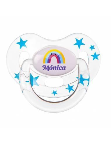 Chupete Personalizado a Color Arcoiris - Chupetes personalizados para bebés