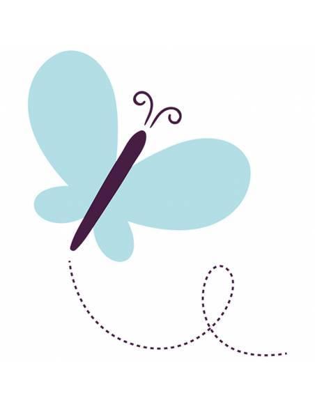 Chupete Personalizado a Color Mariposa Azul - Chupetes personalizados para bebés