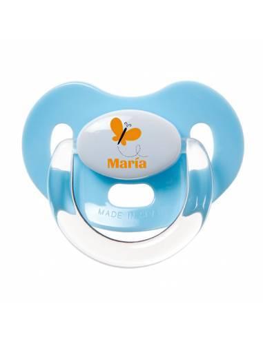 Chupete Personalizado a Color Mariposa Amarilla - Chupetes personalizados para bebés