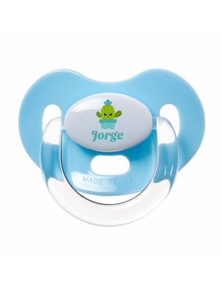 Chupete Personalizado a Color Cactus Azul - Chupetes personalizados para bebés
