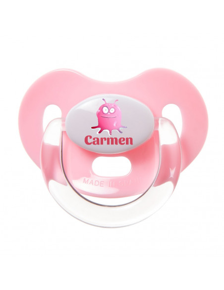 Chupete Personalizado a Color Monstruo Rosa - Chupetes personalizados para bebés
