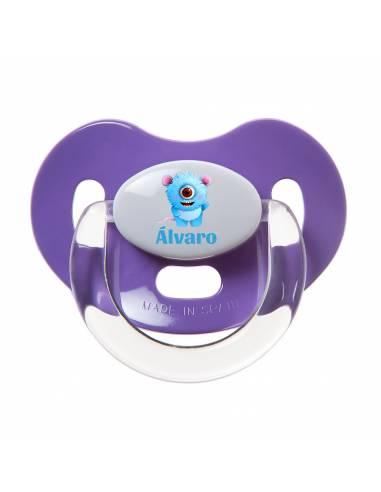 Chupete Personalizado a Color Monstruo Azul - Chupetes personalizados para bebés