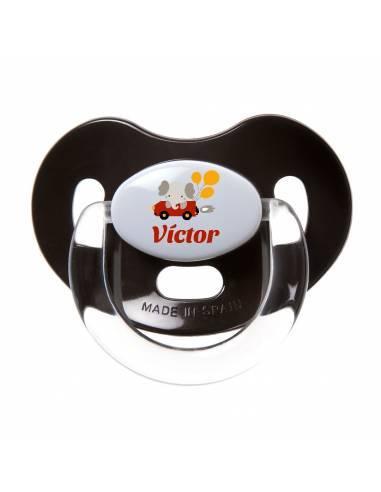 Chupete Personalizado a Color Elefante Coche - Chupetes personalizados para bebés