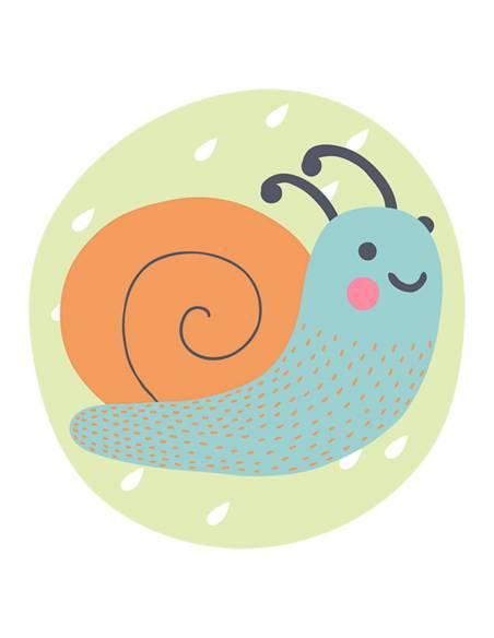 Chupete Personalizado a Color Caracol Veloz - Chupetes personalizados para bebés