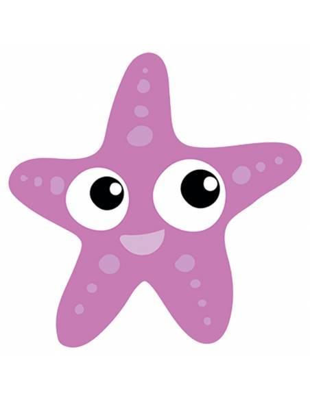 Chupete Personalizado a Color Estrella de Mar Rosa - Chupetes personalizados para bebés