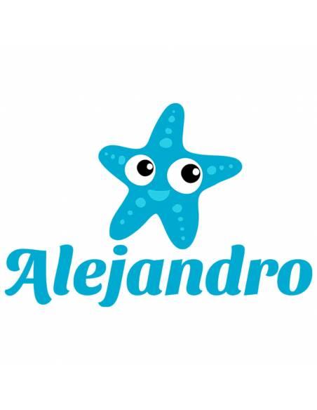 Chupete Personalizado a Color Estrella de Mar Azul - Chupetes personalizados para bebés