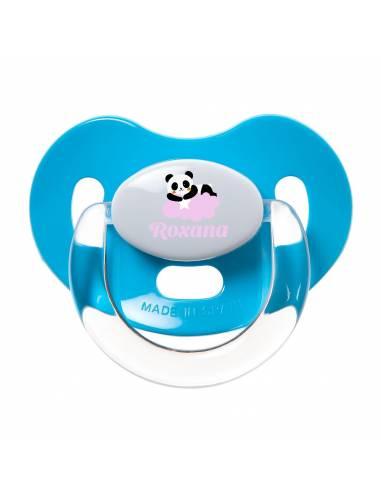 Chupete Personalizado a Color Panda Rosa - Chupetes personalizados para bebés