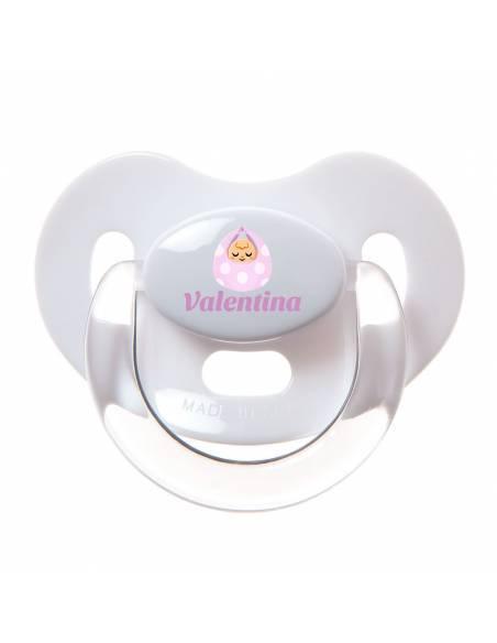 Chupete Personalizado a Color Bebé Rosa - Chupetes personalizados para bebés