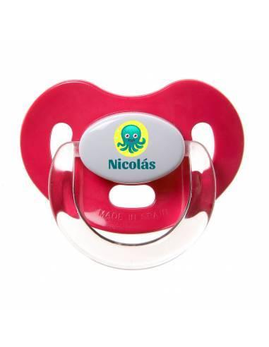 Chupete Personalizado a Color Pulpo - Chupetes personalizados para bebés