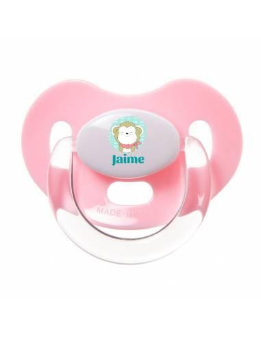 Chupete Personalizado a Color Mono con Pañuelo - Chupetes personalizados para bebés