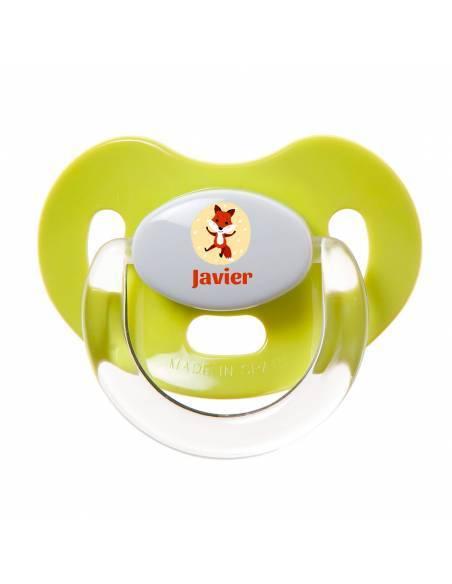 Chupete Personalizado a Color Zorro - Chupetes personalizados para bebés