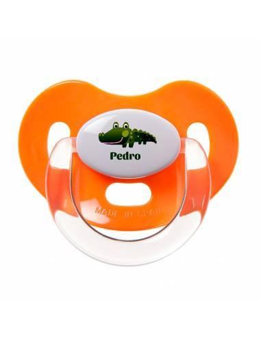 Chupete Personalizado a Color Cocodrilo - Chupetes personalizados para bebés