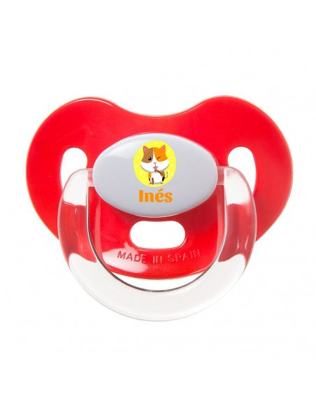 Chupete Personalizado a Color Gato - Chupetes personalizados para bebés
