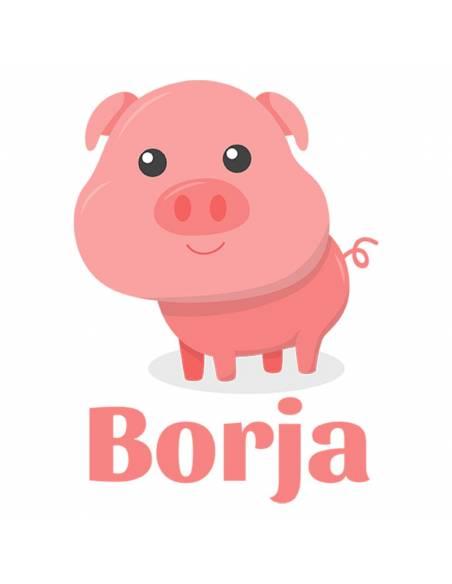 Chupete Personalizado a Color Cerdo - Chupetes personalizados para bebés