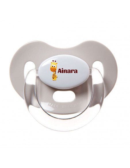 Chupete Personalizado a Color Jirafa - Chupetes personalizados para bebés