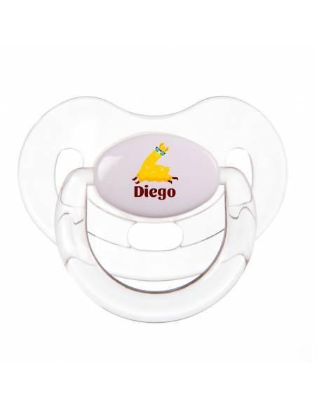 Chupete Personalizado a Color Llama con Gafas - Chupetes personalizados para bebés