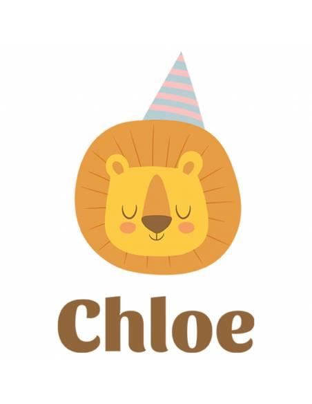 Chupete Personalizado a Color León con Gorro - Chupetes personalizados para bebés