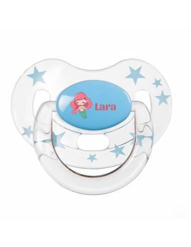 Chupete Personalizado a Color Sirena - Chupetes personalizados para bebés