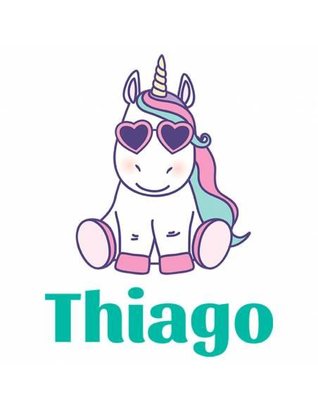 Chupete Personalizado a Color Unicornio con Gafas - Chupetes personalizados para bebés