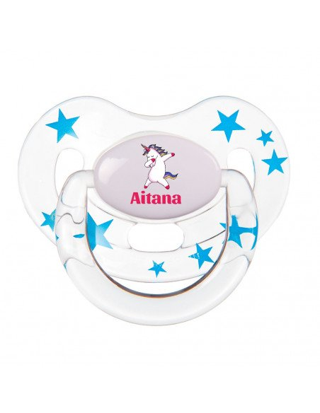 Chupete Personalizado a Color Unicornio - Chupetes personalizados para bebés