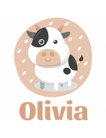 Chupete Personalizado a Color Vaca - Chupetes personalizados para bebés