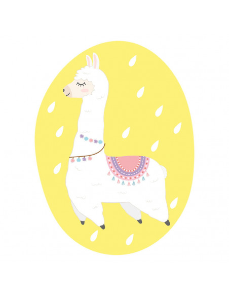 Chupete Personalizado a Color Llama - Chupetes personalizados para bebés