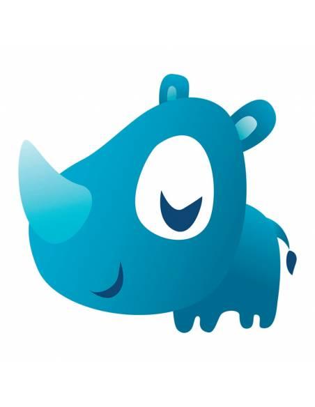 Chupete Personalizado a Color Rinoceronte - Chupetes personalizados para bebés