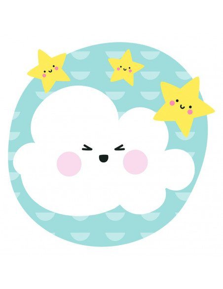 Chupete Personalizado a Color Nube Azul - Chupetes personalizados para bebés