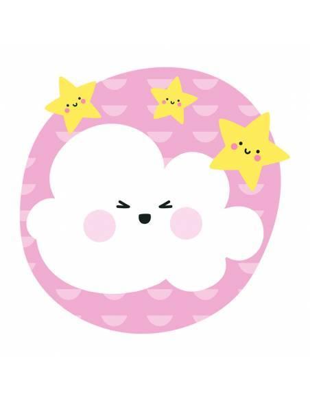 Chupete Personalizado a Color Nube Rosa - Chupetes personalizados para bebés