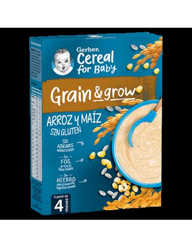 Papillas de cereales GERBER Arroz y maíz sin gluten - Inicio