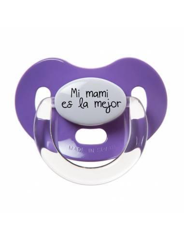 """Chupete con frase """"Mi mami es la mejor"""" - Chupetes originales con frases"""