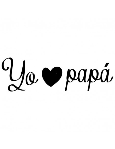 """Chupete con frase """"Yo LOVE papá"""" - Chupetes originales con frases"""
