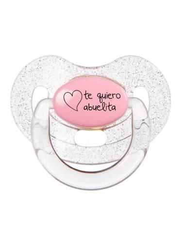 """Chupete con frase """"Te quiero abuelita"""" - Chupetes originales con frases"""