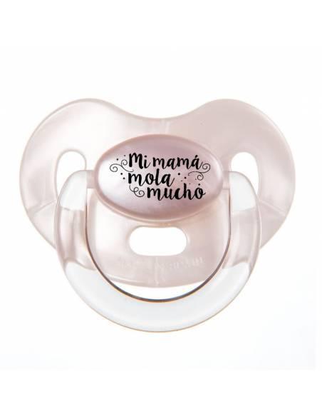 """Chupete con frase """"Mi mamá mola mucho"""" - Chupetes originales con frases"""