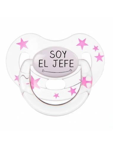 "Chupete con frase ""SOY EL JEFE"" - Chupetes originales con frases"