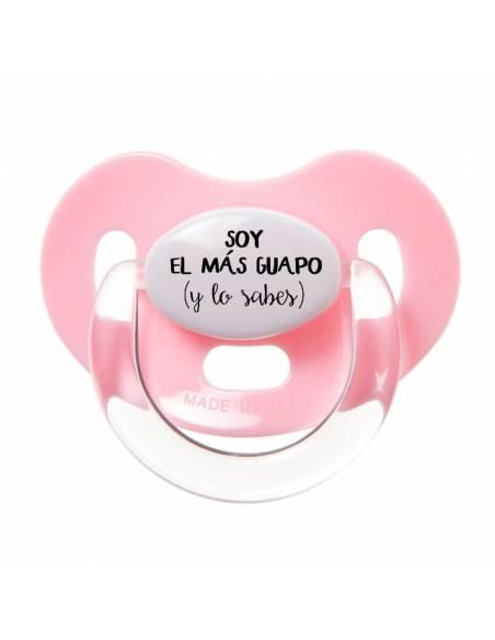 """Chupete con frase """"SOY EL MÁS GUAPO (y lo sabes)"""" - Chupetes originales con frases"""