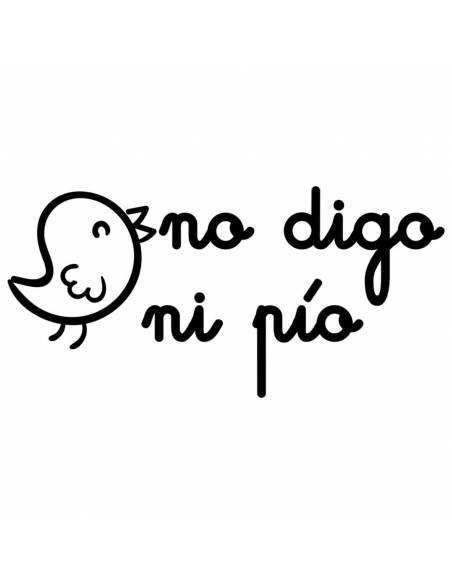 "Chupete con frase ""No digo ni pío"" - Chupetes originales con frases"