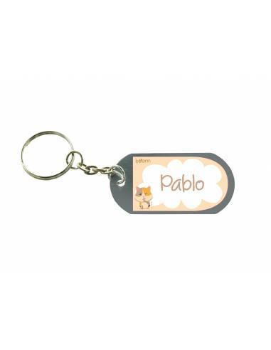 Chapa identificativa con el nombre PACK 2 unidades GATO. - Chapas y pulseras identificativas con el nombre
