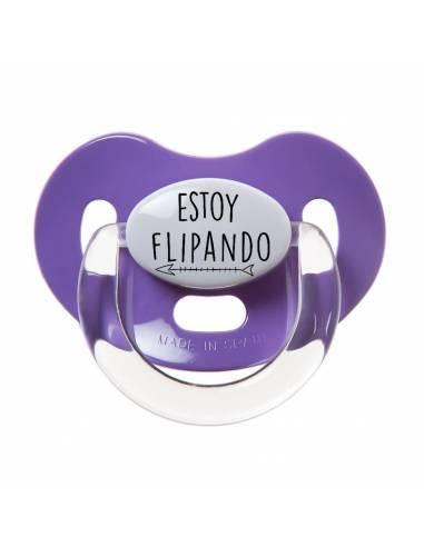 """Chupete con frase """"ESTOY FLIPANDO"""" y Flecha - Chupetes originales con frases"""