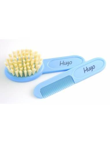 Conjunto Cepillo y Peine Azul