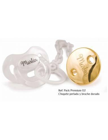 PACK PREMIUM PERLADO personalizado - Chupetes y chupeteros premium