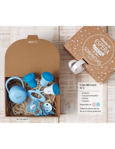 Caja regalo bebé personalizada Nº1 - Cajas regalo para bebés personalizadas